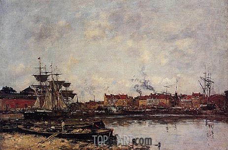 Dunkirk, The Inner Port, 1889 | Eugene Boudin | Painting Reproduction