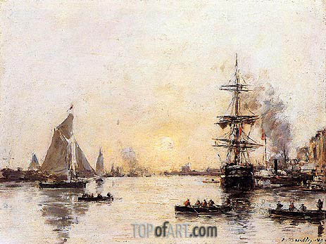 Le Haver, the Outer Port, 1889 | Eugene Boudin | Painting Reproduction