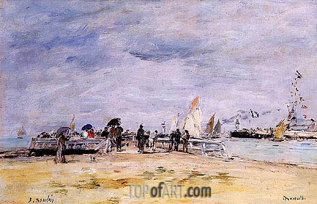 Eugene Boudin | Deauville, the Jetty, c.1888/95