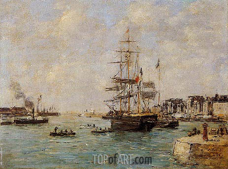 Le Havre, the Outer Port, 1886 | Eugene Boudin | Painting Reproduction