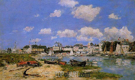 Trouville, the Port, c.1885/90 | Eugene Boudin | Painting Reproduction