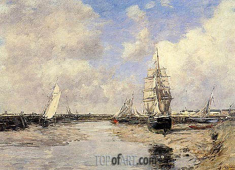 Eugene Boudin | Estuary at Trouville, 1880