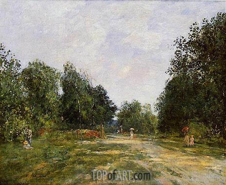 Eugene Boudin | Cordier Park, Trouville, c.1880/85