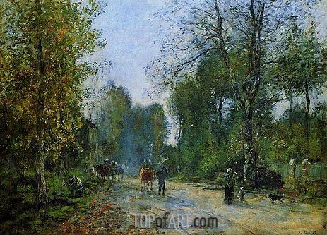 Eugene Boudin | Trouville, Le Chemin de la Corderie, 1878