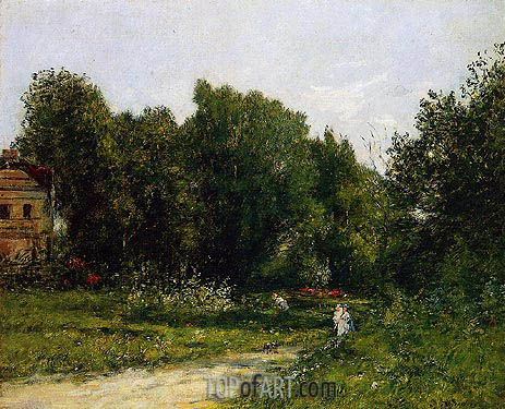 Le Parc Cordieres a Trouville, c.1873 | Eugene Boudin | Painting Reproduction
