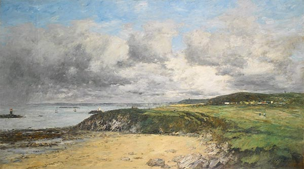 Eugene Boudin | The Coast of Portrieux, 1874