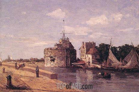 Eugene Boudin | Le Havre, la tour Francois, c.1854