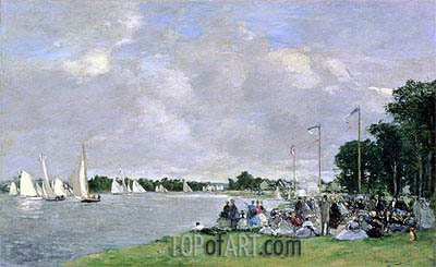 Regatta at Argenteuil, 1866 | Eugene Boudin | Painting Reproduction