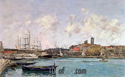 Eugene Boudin | View of Antibes, 1893
