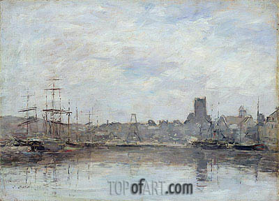 Eugene Boudin | September Morning: Port of Fecamp, 1880