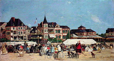 Casino de Trouville,  | Eugene Boudin | Painting Reproduction