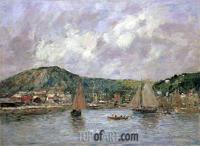 Cherbourg, 1883 | Eugene Boudin | Painting Reproduction