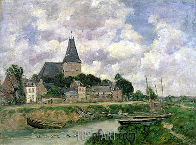 Quittebeuf, 1893 | Eugene Boudin | Painting Reproduction