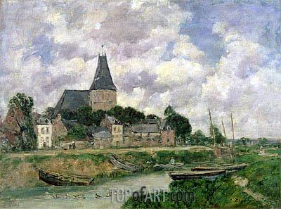 Eugene Boudin | Quittebeuf, 1893