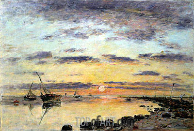 Le Havre, 1889 | Eugene Boudin| Painting Reproduction