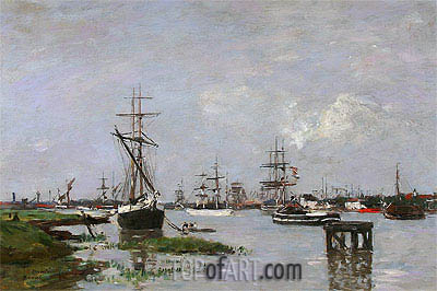 The Port at Anvers, c.1871/74 | Eugene Boudin | Painting Reproduction