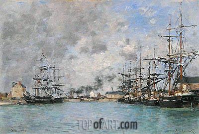 Eugene Boudin | Deauville, the Bassin, c.1880/85