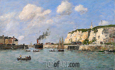 Eugene Boudin | The Entree of the Harbour, Dieppe, 1896