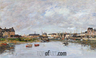 The Harbour at Trouville, 1880 | Eugene Boudin | Painting Reproduction