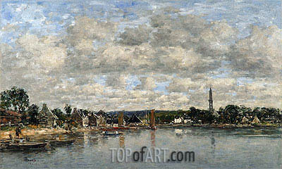 Hopital-Camfrout, Le Bourg, 1872 | Eugene Boudin| Painting Reproduction