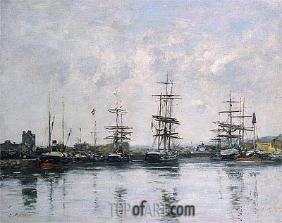 The Basin, Deauville, c.1880/85 | Eugene Boudin| Painting Reproduction