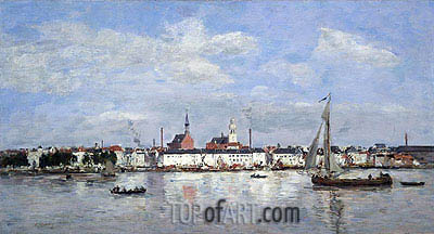 The Quay at Antwerp, 1874 | Eugene Boudin | Painting Reproduction