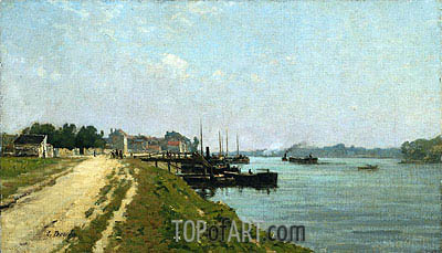 Banks of the Seine, 1869 | Eugene Boudin | Painting Reproduction