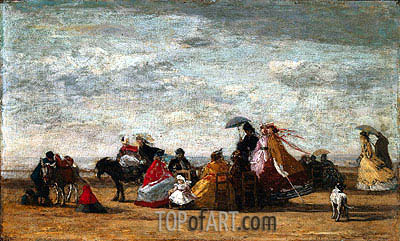 Beach Scene, 1867 | Eugene Boudin | Painting Reproduction