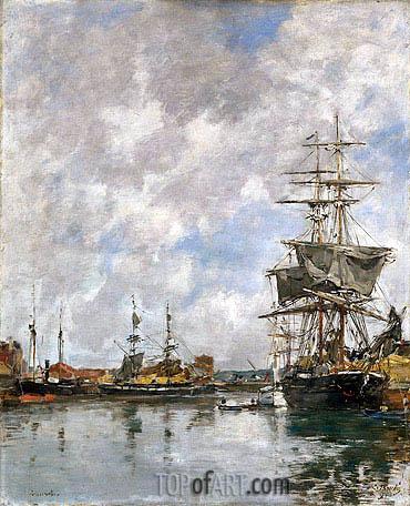 Eugene Boudin | Deauville Harbor, 1891