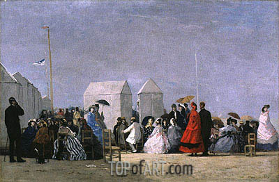 Beach Near Trouville, undated | Eugene Boudin | Painting Reproduction