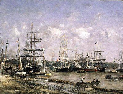 Eugene Boudin | Bordeaux, the Port, undated
