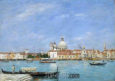 Eugene Boudin | Venice, Santa Maria della Salute from San Giorgio, 1895