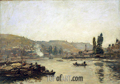 Eugene Boudin | The Seine at Rouen, 1895