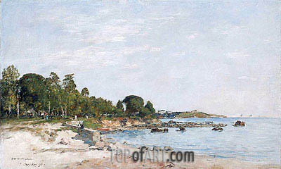 Juan-les-pins, the Bay and the Shore, 1893 | Eugene Boudin | Painting Reproduction