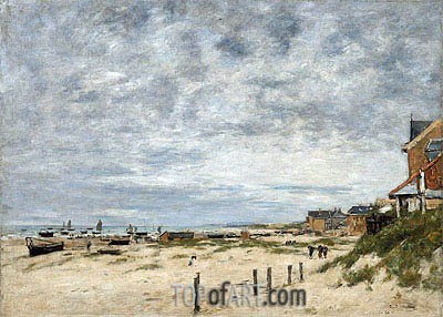 The Inlet at Berck (Pas-de-Calais), 1882 | Eugene Boudin | Painting Reproduction