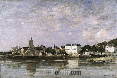 View of the Harbour at Trouville, 1878 | Eugene Boudin| Gemälde Reproduktion