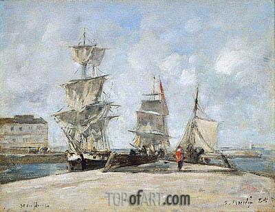 Eugene Boudin   Harbor at Honfleur, 1865