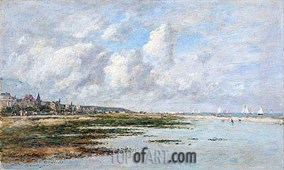 Deauville at Low Tide, 1897 | Eugene Boudin| Gemälde Reproduktion