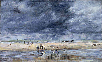 Figures on the Beach, 1893 | Eugene Boudin | Painting Reproduction