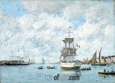 Port of Le Havre, c.1886 | Eugene Boudin| Painting Reproduction