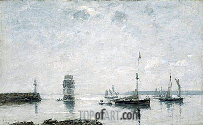 Harbor Entrance, 1873 | Eugene Boudin | Painting Reproduction