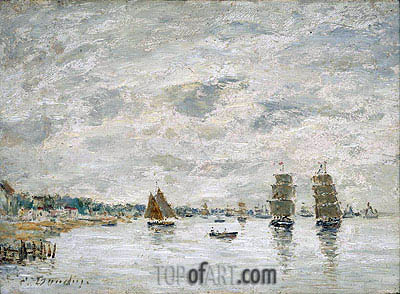 Port Scene, undated | Eugene Boudin | Painting Reproduction