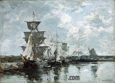 Harbor Scene, undated | Eugene Boudin | Painting Reproduction