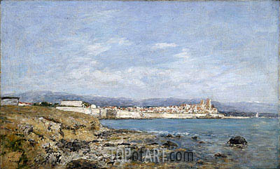 View of Antibes, 1893 | Eugene Boudin| Gemälde Reproduktion