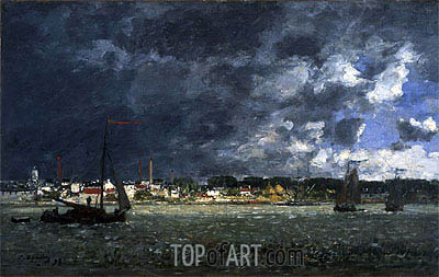 Storm over Antwerp, 1872 | Eugene Boudin| Painting Reproduction