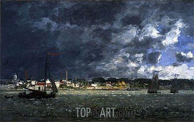 Eugene Boudin | Storm over Antwerp, 1872