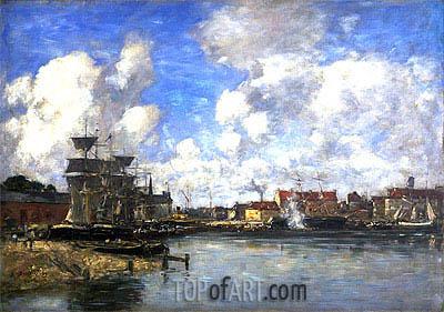 Eugene Boudin | Dunkirk, 1889