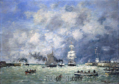 Port of Le Havre, 1887 | Eugene Boudin| Painting Reproduction