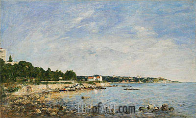Eugene Boudin | Le Cap, Antibes, 1893