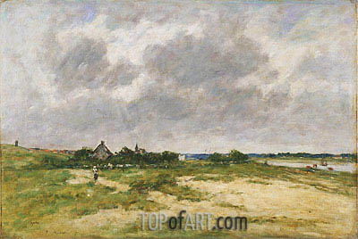 Etaples, les Bords de la Canche, 1891 | Eugene Boudin| Gemälde Reproduktion